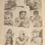 Daniel Bregenzer Bleistift Zeichnung Poster mit allen Bildern