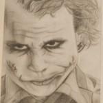 Daniel Bregenzer Bleistift Zeichnung Joker Batman böse mit Narben im Gesicht