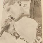 Daniel Bregenzer Bleistift Zeichnung Sänger Tatoo Stone Sour