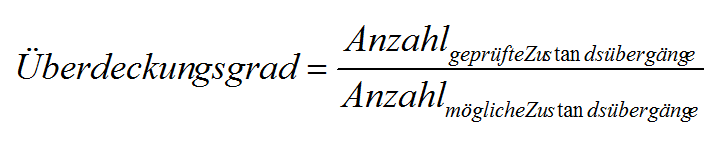 zustandsbasierter Test Standardüberdeckungsgrad Formel