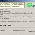 Fehlerklassengenerator Startbildschirm zum generieren der Fehlerklasse nach ISTQB