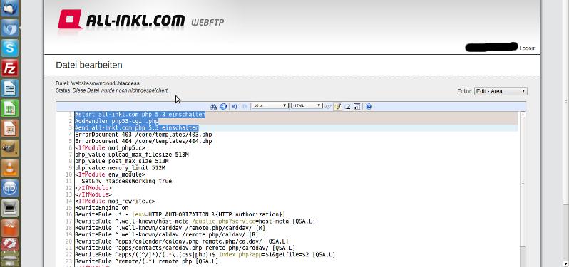 .htaccess Datei für all-inkl.com anpassen bzgl. php5.3