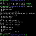 kommandozeile Raspberry QR-Code Reader
